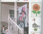 "22"" to 26"" Goose Lawn Cow Bride Groom Sun bonnet Clothes Craft Sewing Pattern Porch Flags"
