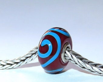 Luccicare Lampwork Bead - Ornament -  Lined with Sterling Silver
