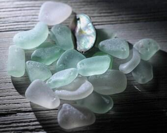 Bulk sea glass - Drilled sea glass - Sea glass Bulk - Beach glass for jewelry making -  Sea glass Charms - Jewelry making - Gift beach lover