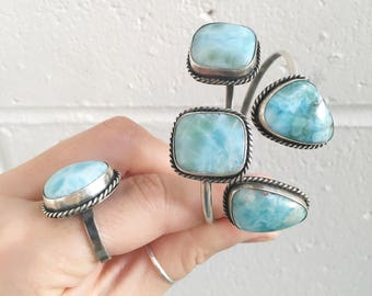 Larimar cuff // choose one  // recycled sterling silver // made with love in Byron Bay