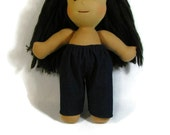 Denim pants for 15 to 16 inch Waldorf doll, plain jeans for your Waldorf doll