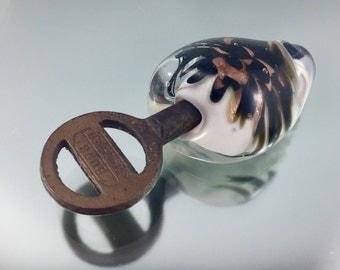 Skeleton key, vintage Key, key bead, lampwork bead, glass bead key, goldstone glass bead, glass implosion, key jewelry, steam punk jewelry