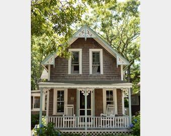 Wesleyan Grove House, Martha's Vineyard, Gingerbread House, Oak Bluffs Photo, Victorian House Art, Oak Bluffs House, Cute Cottage Photo Art