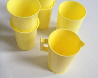 Miniature cups, pitcher, and vase set