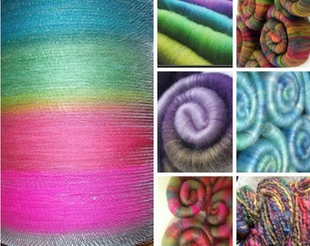 ROLAG Surprise Package / Some of every color / Fun rolag selection