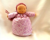 Waldorf doll, pillow doll 10inch,handmade of natural eco materials, no machine involved