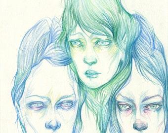 Glum Girls II (original drawing)