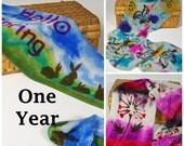 ONE YEAR Stenciled SINGLE sock blank club