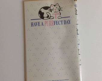 Vintage Cat Notepad and Pencil set
