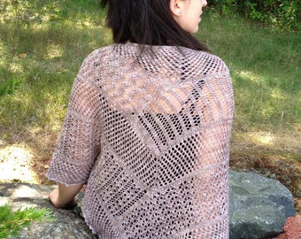 Analucia Hand Knit Lace Shawl