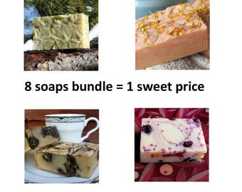 Goat milk soaps - Save with this 8-pack