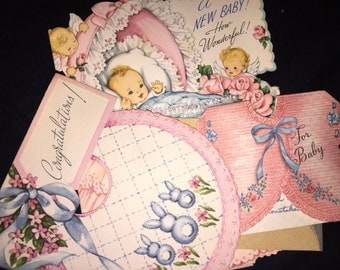 Vintage Baby Card Lot