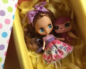 Lps Petite Blythe Doll..Christmas Set.. Ooak!!