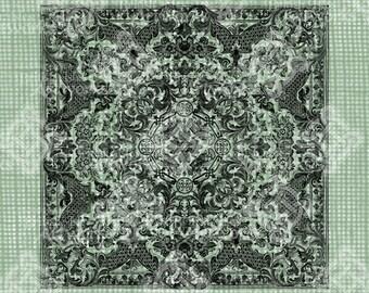 Digital Download Elegant Baroque Square Pattern, Highly detailed, Transparent png, Digi Stamp, Background, Vintage Antique