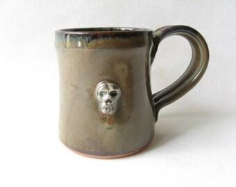 Skull Pottery Mug 13 oz.