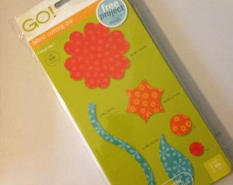 AccuQuilt Go! Fabric Cutting Die Round Flower 55007