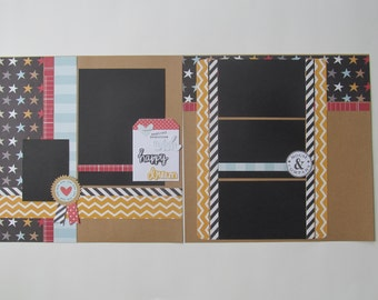 Disney Magic 3 12x12 Scrapbook Layout, Scrapbook Page, Scrapbook Mini Album, Pre-Made Pages, Pre-Made Albums