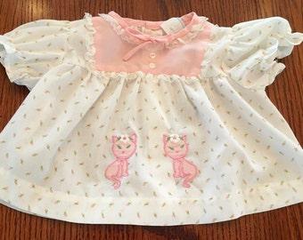 1970s Kitty Dress 3/6 Months