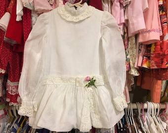 60s Drop Waist Dress 3/4T