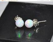6mm Ball Stud Post earrings, Opal Earrings, Sterling Silver Earrings,  Australian Opal, 925 Sterling Silver
