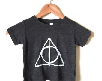 SALE Size 18-24 Months. Harry Potter Baby Shirt- Deathly Hallows Symbol. Ready To Ship