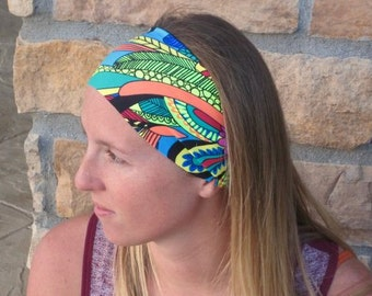Multi Color Sport Headband / Running Headband / Wild Colorful Stretch Headband/ Comfortable Hairband/ Women's Gift Best Selling Headband