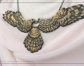 Falcon Wings in bronzed alder wood