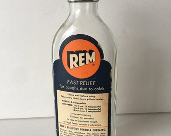 REM Cough Syrup Bottle Pharmaceutical Collectible