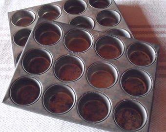 Vintage Mini Metal Muffin Pans