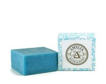 Guest Soap Bar, Shea Butter Soap, Ocean Scent, Vegan Gift, Cold Process Soap, Facial Soap   Island Mist Shea Butter Soap in Guest Size