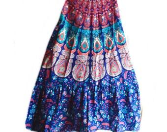 Batik skirt, Festval skirt, hippie skirt, Grateful Dead Skirt, Small,medium,Large,XL,2X, Handmade Hippie Patchwork spinner dancing skirt