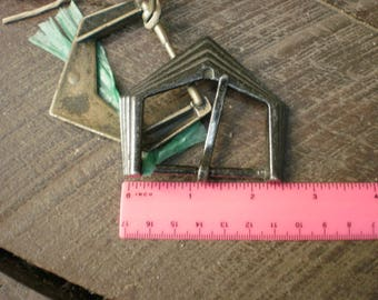 vintage chevron buckle