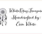 Custom stamp and ink-pad for erin white.cdr