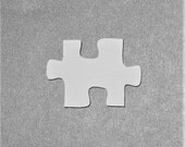 Hand Painted White Wooden Puzzle Piece