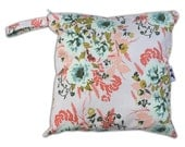 HEAT SEALED and BEST Selling Wet Bags here -Small Wet Bag in Wild Posy with Snap Handle