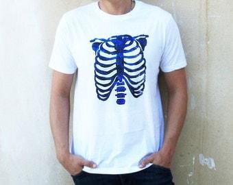 Agoraphobix Glitter Ribcage print T shirt | Unisex | Men