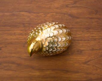 Vintage Gold Ceramic Quail