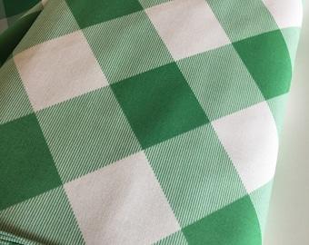 Plaid Fabric, Green White Plaid, Rustic Wedding Fabric, Modernist fabric by Joel Dewberry, Pure Plaid in Emerald- Choose the cut