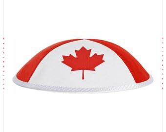 Canada flag jewish kippah yarmulke.