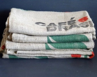 Burlap Coffee Bag Cafesdo Brasil Jute Bag 26 x 38 inches 1 Bag