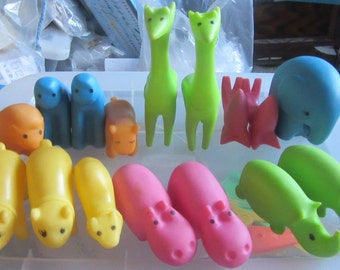 soft rubber animals large lot