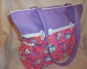 Disney Royal Cuteness pets fabric kittens and puppies duffle diaper bag l tote bag add name great over night bag