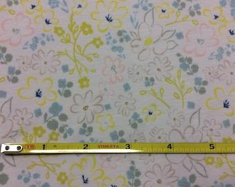 NEW Art Gallery Liten Ditsy Whisper on cotton Lycra  knit fabric 1 yard