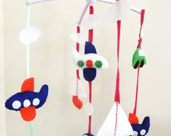 Car Baby Cot Musical Mobile / Baby Gift / Nursery Decor
