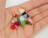 Teeny Tiny Tassels Mini Tassels Jewelry Tassels Earring Tassels Craft Tassels Short Tassels Thread Tassels Fringe Fiber Charms |12