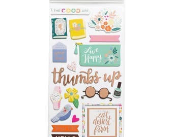 "Good Life Icon Paige Evans Oh My Heart Thickers Stickers 5.5""X11"" 2/Pkg (310521)"