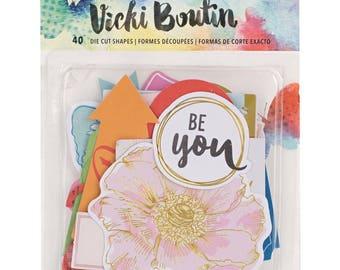 Vicki Boutin Mixed Media Ephemera Cardstock Die-Cuts 40/Pkg (376832) American Crafts