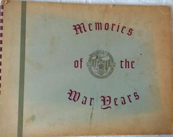 Memories of the War Years SC Book //WWl WWll // Bellerose NY Commonwealth Civic Assn.