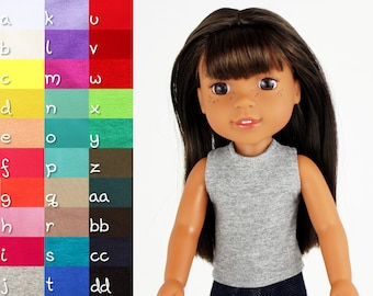 Fits like Wellie Wishers Doll Clothes - The Basic Tank Top, You Choose Color
