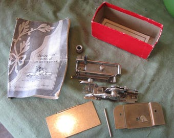 Vintage  Sewing Machine Parts ROTARY  HEMSTITCHER   With instruction Booklet Bu Free Sewing Machine Company